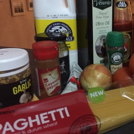 Ingredients for Oven Spaghetti